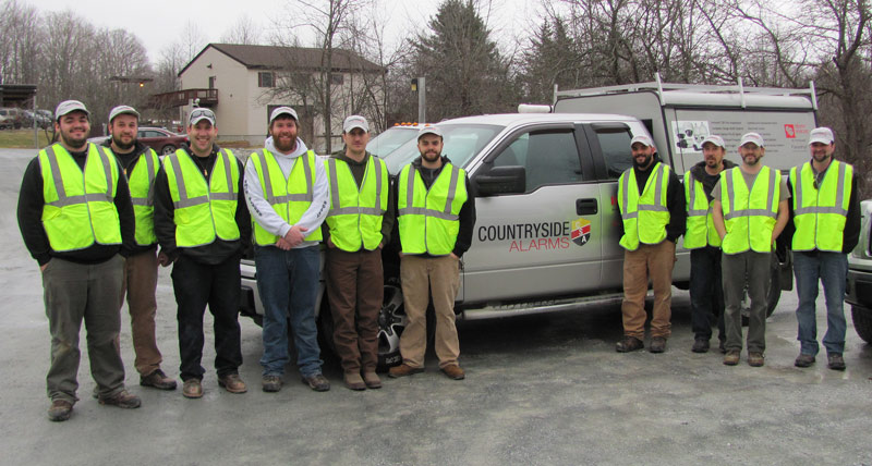 The technician team at Countryside Alarms, 2017 Best Places to Work in Vermont
