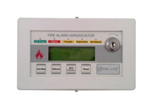 Fire-Lite LCD-80F Fire Alarm Annunciator (with frame)