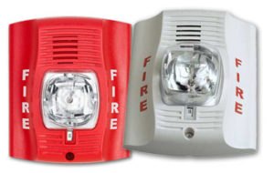 Honeywell a05-0395 outdoor hornstrobe in red or white.